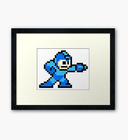Mega Man Pixel Art Framed Print