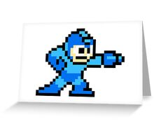 Mega Man Pixel Art Greeting Card