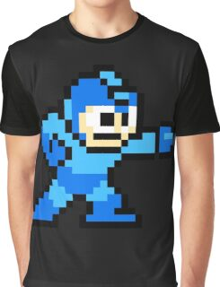 Mega Man Pixel Art Graphic T-Shirt