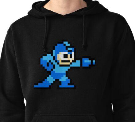 Mega Man Pixel Art Pullover Hoodie