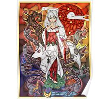 Stained Glass Okami Poster