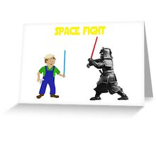 Space Fight Battle Scene Greeting Card