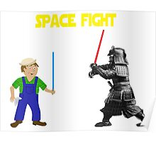 Space Fight Battle Scene Poster