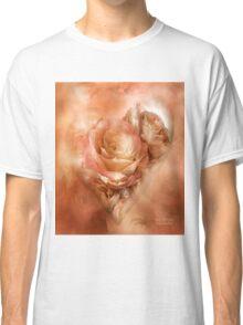 Heart Of A Rose - Gold, Peach, Orange Classic T-Shirt