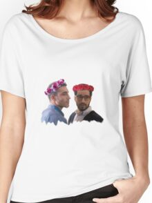 lito and hernando with flower crown Women's Relaxed Fit T-Shirt