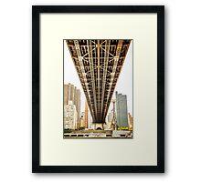 A Bridge To Gotham Framed Print