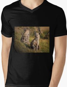 Hyena in the Wild Mens V-Neck T-Shirt