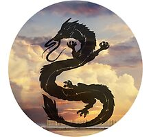 Dragon Haku Spirited Away clouds by tioticker