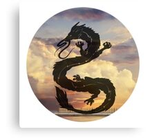 Dragon Haku Spirited Away clouds Canvas Print