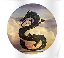 Dragon Haku Spirited Away clouds Poster