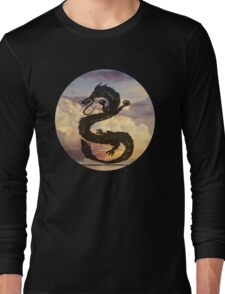Dragon Haku Spirited Away clouds Long Sleeve T-Shirt