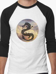 Dragon Haku Spirited Away clouds Men's Baseball ¾ T-Shirt