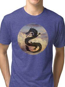 Dragon Haku Spirited Away clouds Tri-blend T-Shirt