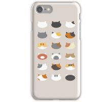 Row of Cats - Neko Atsume iPhone Case/Skin