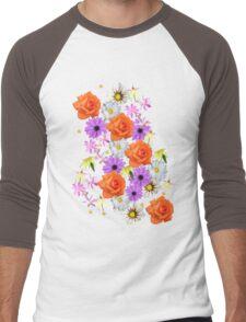 Orange Rose Men's Baseball ¾ T-Shirt