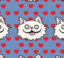 Love Cat Crazy Sticker