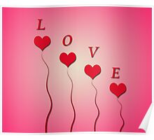Love with hearts Poster
