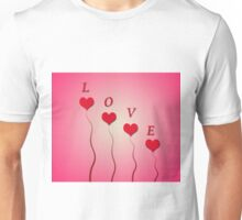 Love with hearts Unisex T-Shirt