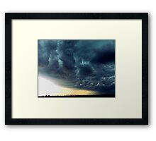 Summer Storm clouds over New York City  Framed Print