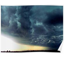 Summer Storm clouds over New York City  Poster