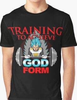 Training to achieve God Form Graphic T-Shirt