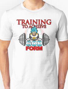 Training to achieve God Form Unisex T-Shirt