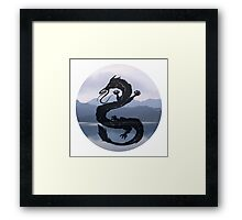 Dragon Haku Spirited Away blue Framed Print