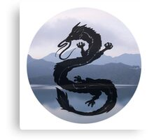 Dragon Haku Spirited Away blue Canvas Print