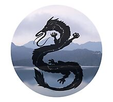 Dragon Haku Spirited Away blue Photographic Print