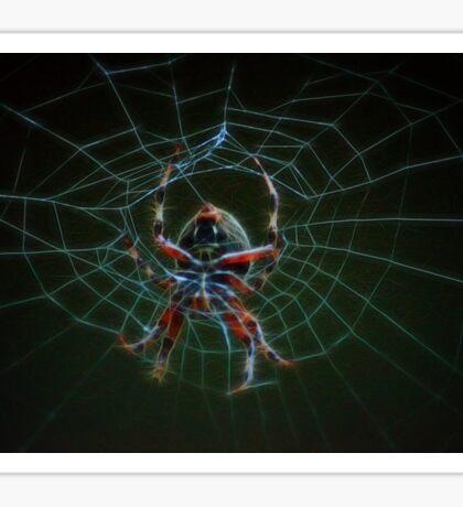 air brush spider web Sticker