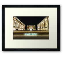 At Lincoln Center Night 2 Framed Print
