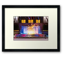 A Winter Night @ Rockefeller Center Framed Print