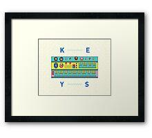 Keyboard Synth Framed Print