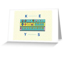 Keyboard Synth Greeting Card
