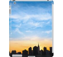 A Gold Sunset - New York City Silhoutte iPad Case/Skin