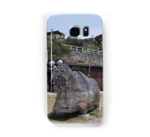 20151031 Sculptures By Sea - Big Pig Yawning  Samsung Galaxy Case/Skin