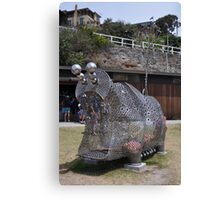 20151031 Sculptures By Sea - Big Pig Yawning  Canvas Print