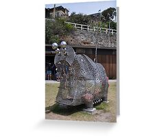 20151031 Sculptures By Sea - Big Pig Yawning  Greeting Card
