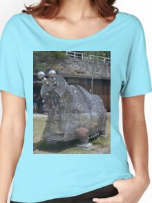 20151031 Sculptures By Sea - Big Pig Yawning  Women's Relaxed Fit T-Shirt