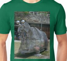 20151031 Sculptures By Sea - Big Pig Yawning  Unisex T-Shirt
