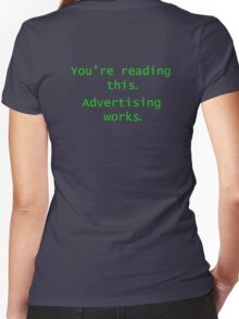 Advertising Works Women's Fitted V-Neck T-Shirt