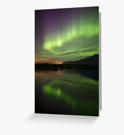 Aurora Borealis Reflections Greeting Card