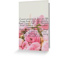 Literature and Love Greeting Card