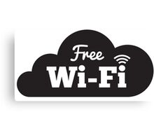 Free Wifi Canvas Print