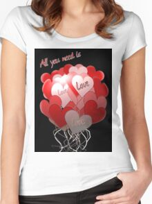 Love, Love, Love Women's Fitted Scoop T-Shirt