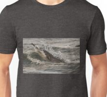 Dolphin eating salmon in Moray Firth Unisex T-Shirt