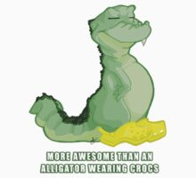 'Gator Wearing Crocs One Piece - Short Sleeve
