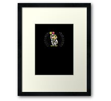 Dr. Mario - Sprite Badge Framed Print