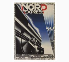 Vintage poster - Nord Express One Piece - Short Sleeve