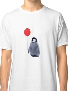 baby penguin with a balloon Classic T-Shirt